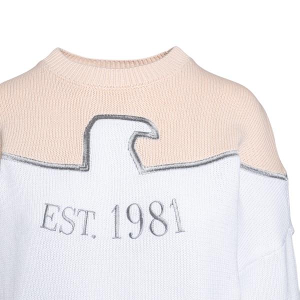 Maglione rosa e bianca con stampa                                                                                                                      EMPORIO ARMANI                                     EMPORIO ARMANI