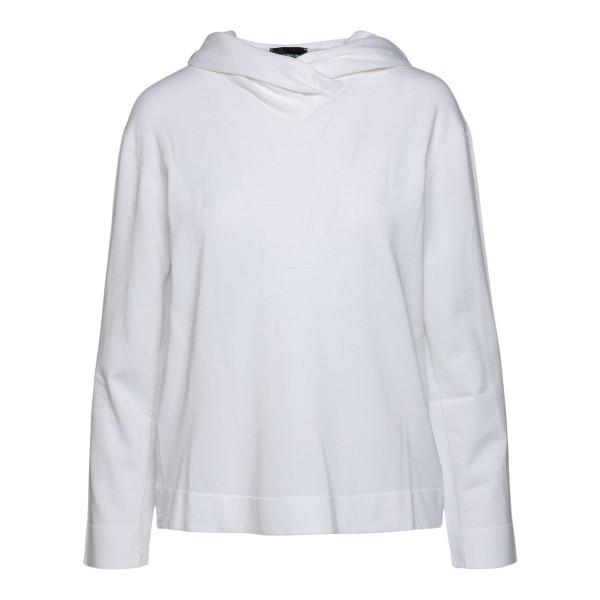 Felpa bianca con cappuccio                                                                                                                            Emporio Armani 3K2MT3 retro