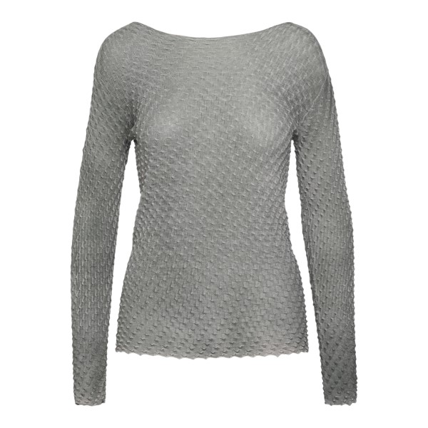 Grey sweater with texture                                                                                                                             Emporio Armani 3K2MWC back