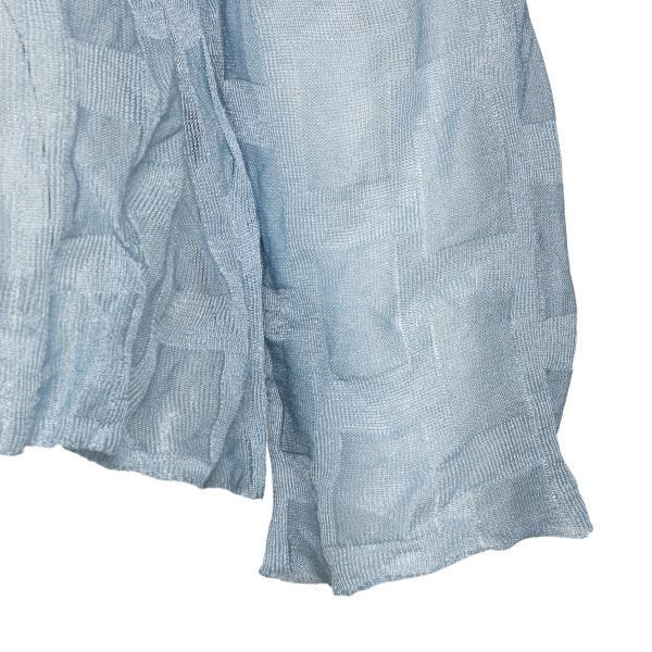 Light blue top with wrinkled effect                                                                                                                    EMPORIO ARMANI