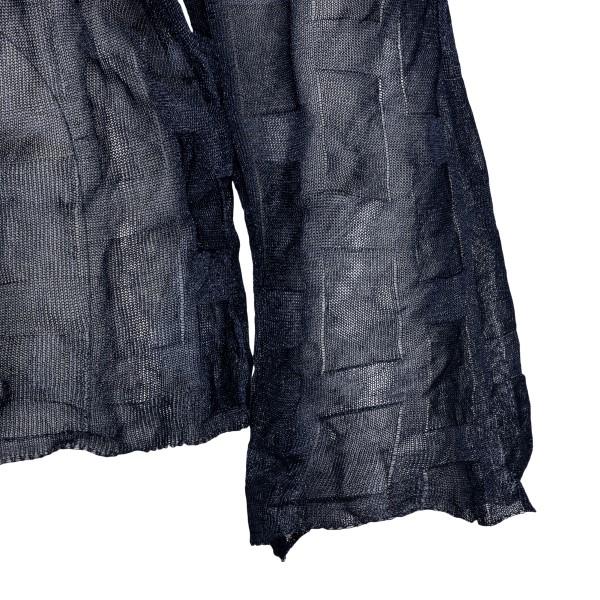 Black wrinkled effect top                                                                                                                              EMPORIO ARMANI