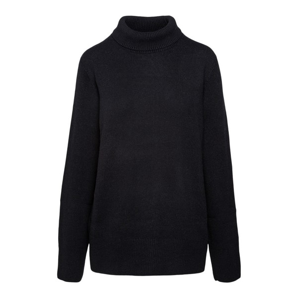 Black sweater with high collar                                                                                                                        The row 5360 front