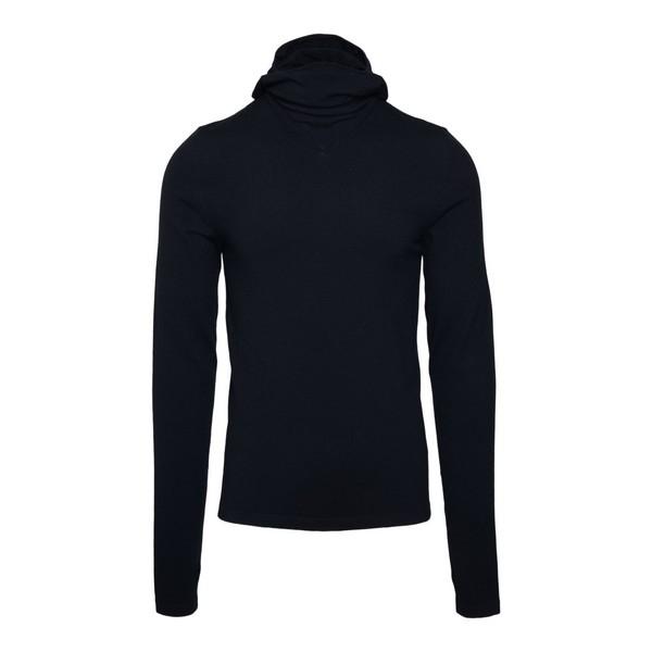 Maglione nero con cappuccio                                                                                                                           Bottega veneta 641081 fronte
