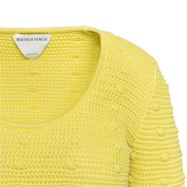 Yellow sweater with raised polka dots                                                                                                                  BOTTEGA VENETA