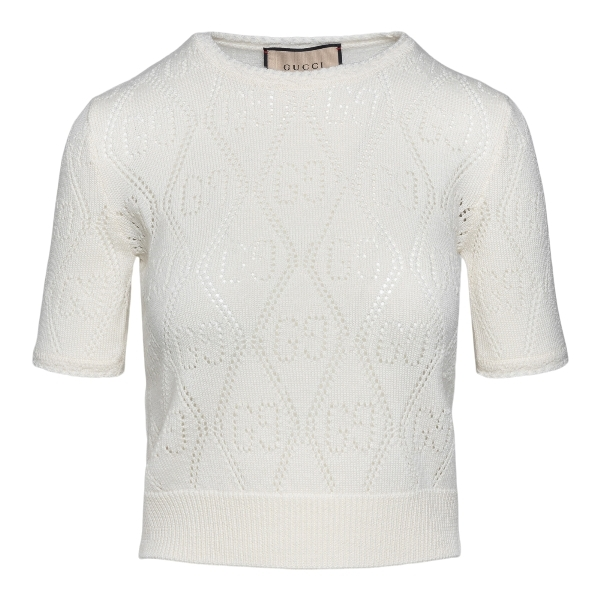 White top with perforated pattern                                                                                                                     Gucci 650676 front