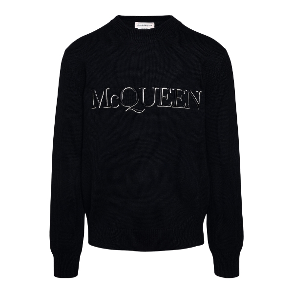 Black sweater with logo embroidery                                                                                                                    Alexander mcqueen 651184 front