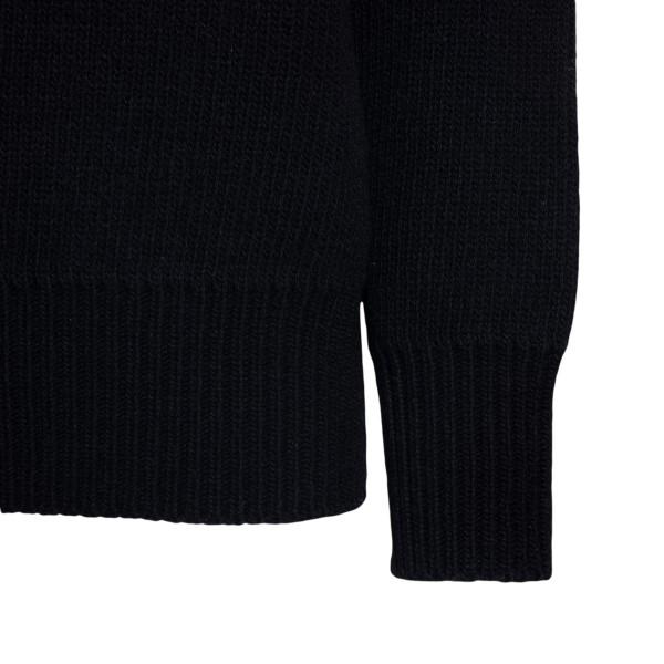 Black sweater with rings application                                                                                                                   BOTTEGA VENETA