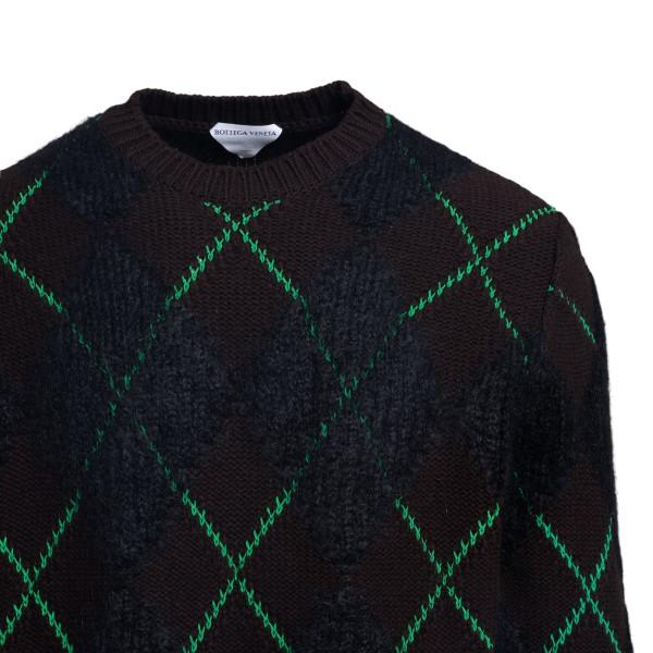 Black sweater in diamond pattern                                                                                                                       BOTTEGA VENETA
