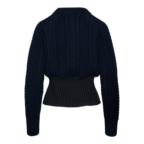 Blue and black sweater with knitting                                                                                                                   ALEXANDER MCQUEEN
