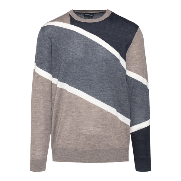 Beige and grey sweater                                                                                                                                Emporio Armani 6K1MTD back