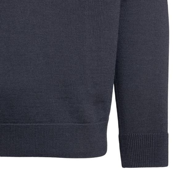 Grey sweatshirt with Giorgio Armani signature                                                                                                          EMPORIO ARMANI