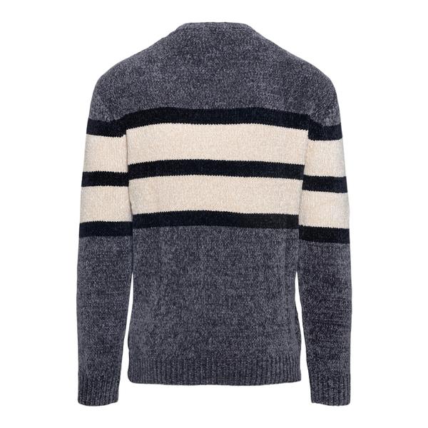 Grey and white striped sweater                                                                                                                         EMPORIO ARMANI