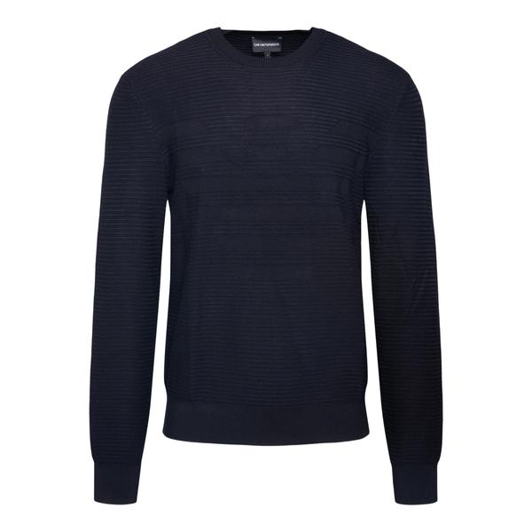 Maglione blu con logo                                                                                                                                 Emporio Armani 6K1MXD retro