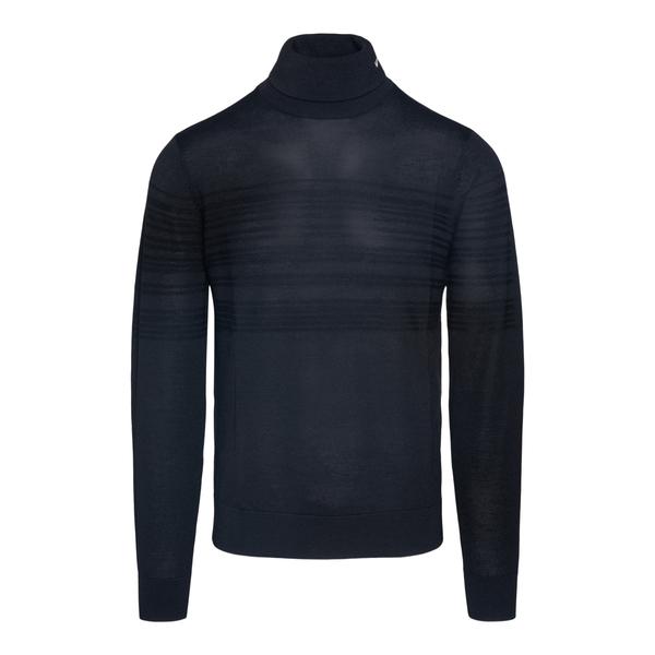 Maglione nero con dettagli a righe                                                                                                                    Emporio Armani 6K1MXG retro