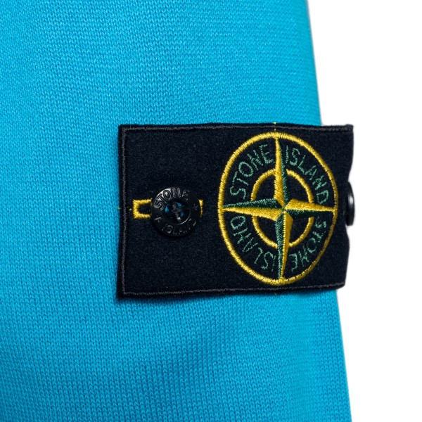 Light blue sweater with logo patch                                                                                                                     STONE ISLAND