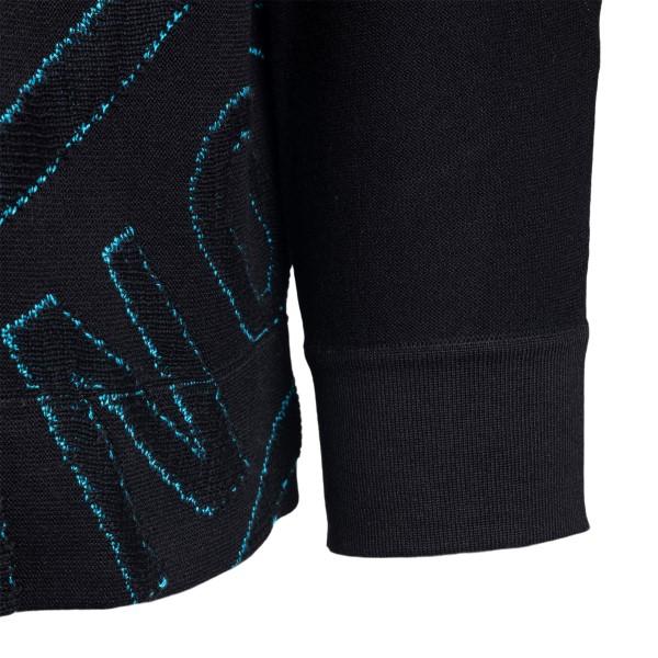 Maglione nero con ampio ricamo logo                                                                                                                    STONE ISLAND                                       STONE ISLAND