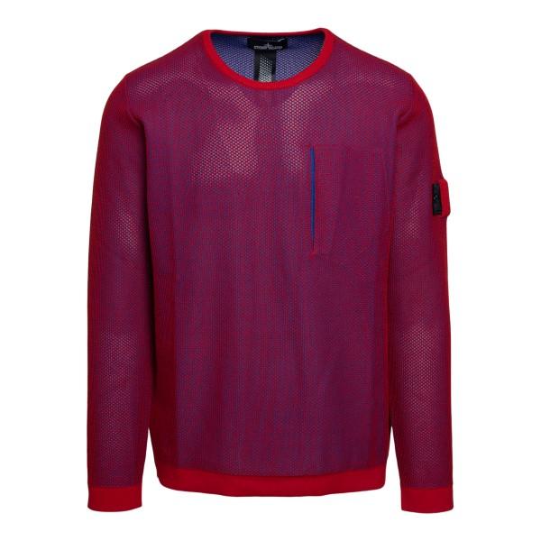 Maglione in rete rosso con logo                                                                                                                       Stone Island Shadow Project 7419505 retro