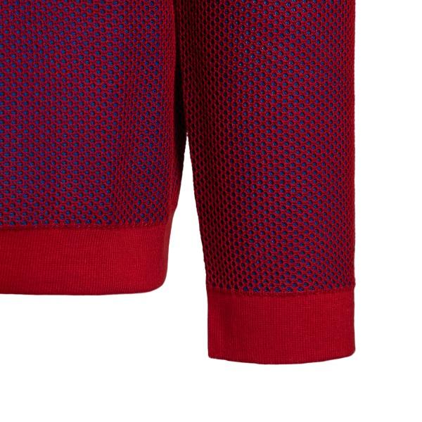 Maglione in rete rosso con logo                                                                                                                        STONE ISLAND SHADOW PROJECT                        STONE ISLAND SHADOW PROJECT