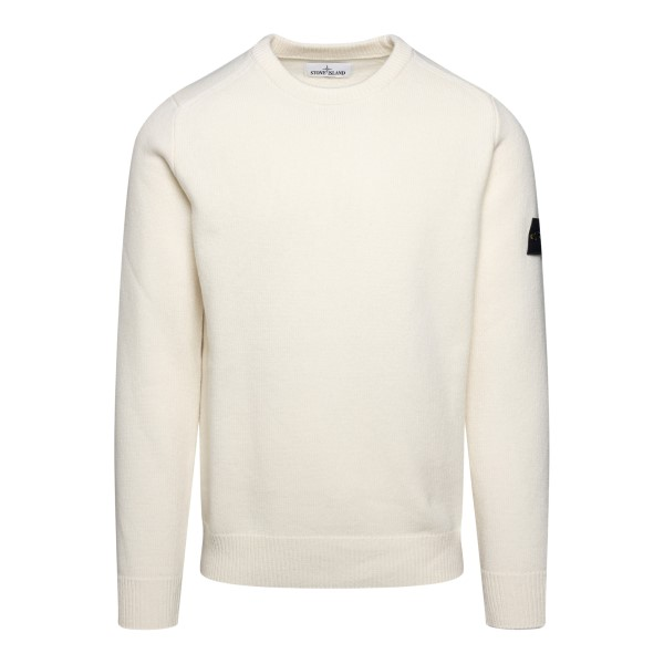 White sweater with logo patch                                                                                                                         Stone Island 7515535 back