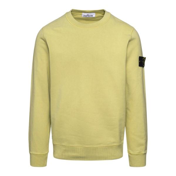 Crewneck sweatshirt in yellow with logo                                                                                                               Stone Island 7515630 back
