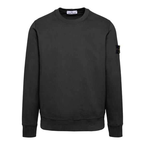 Dark grey sweatshirt with logo patch                                                                                                                  Stone Island 7515630 back