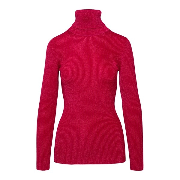 Red turtleneck pullover made of lurex                                                                                                                 Forte forte 7836 front