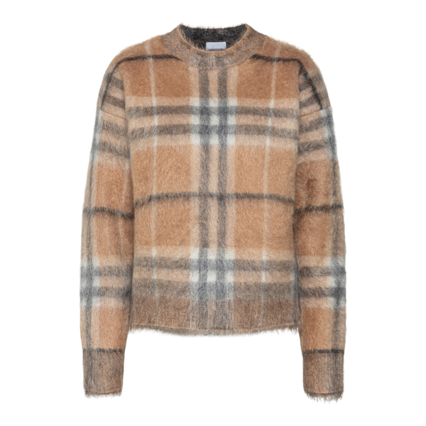 Beige checked sweater                                                                                                                                 Burberry 8046029 back