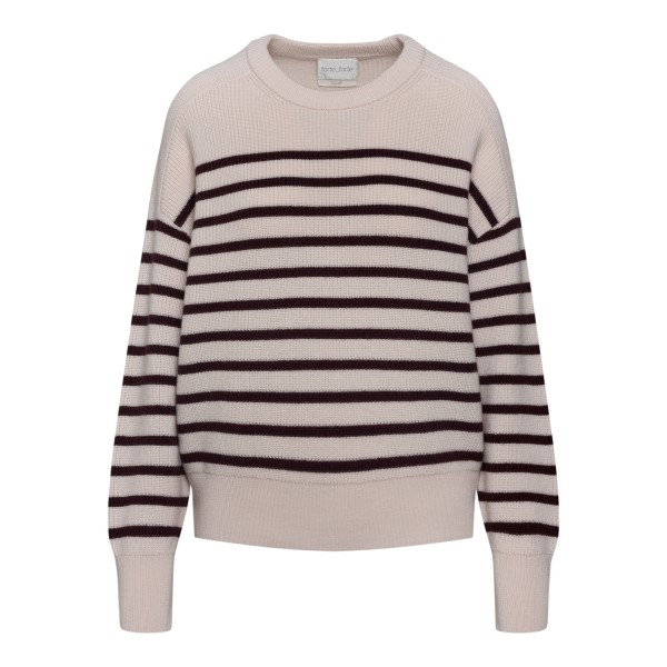 Striped ivory sweater                                                                                                                                 Forte Forte 8517 back