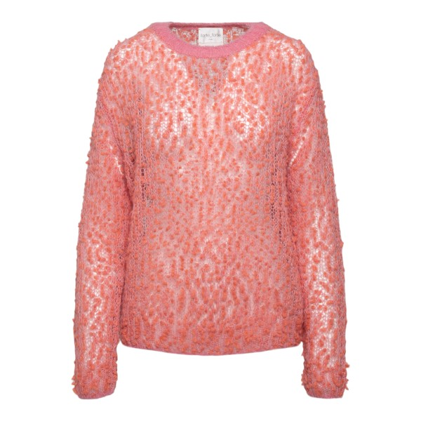 Pink sweater with pom poms                                                                                                                            Forte Forte 8532 back