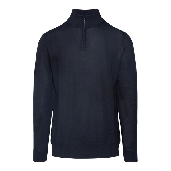 Maglione blu con zip parziale                                                                                                                         Emporio Armani 8N1MUX retro