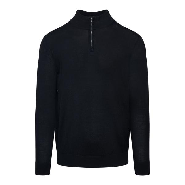 Maglione nero con zip parziale                                                                                                                        Emporio Armani 8N1MUX retro