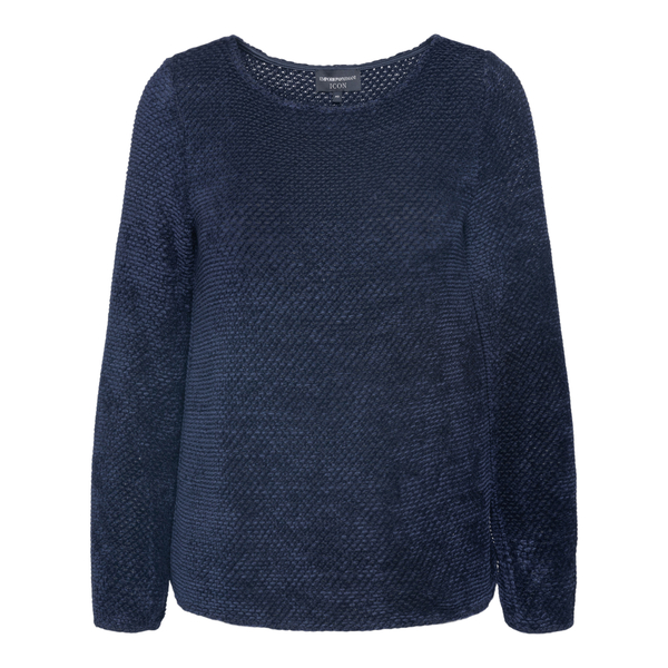 Blue sweater with woven texture                                                                                                                       Emporio Armani 8N2M8T back