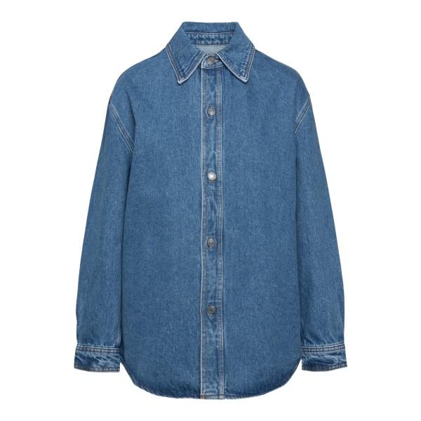 Denim shirt jacket                                                                                                                                    Ami A21FD500 back