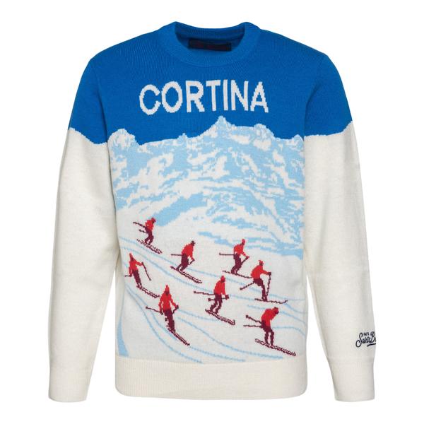 Maglione bianco Cortina                                                                                                                               Saint Barth ALPSPOSTCARD17 retro