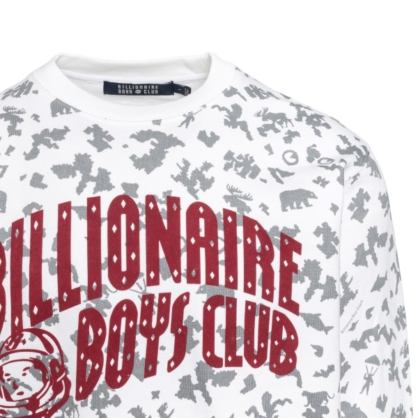 White sweatshirt with patterned print                                                                                                                  BILLIONAIRE BOYS CLUB