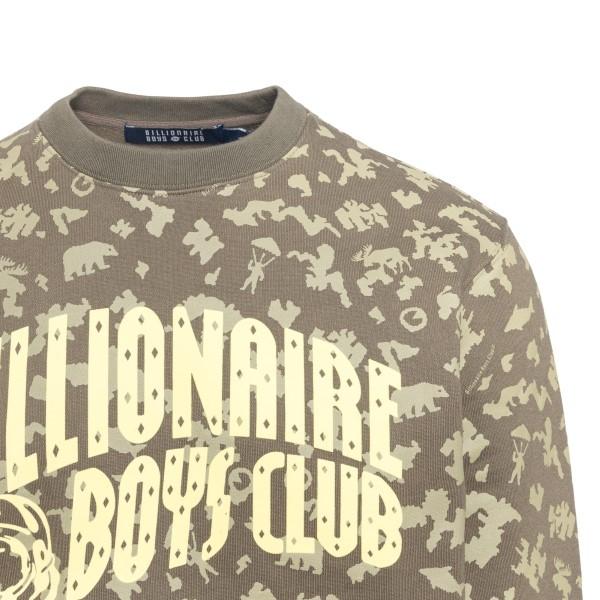 Felpa verde con stampa a fantasia                                                                                                                      BILLIONAIRE BOYS CLUB                              BILLIONAIRE BOYS CLUB