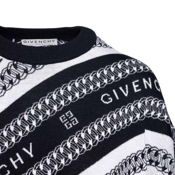 Two-tone sweater with logo embroidery                                                                                                                  GIVENCHY