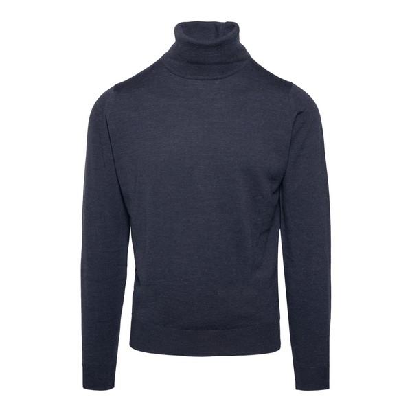 Charcoal turtleneck pullover                                                                                                                          John smedley CONNEL front