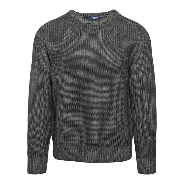 Grey ribbed pullover                                                                                                                                  Drumohr D5M103PA front