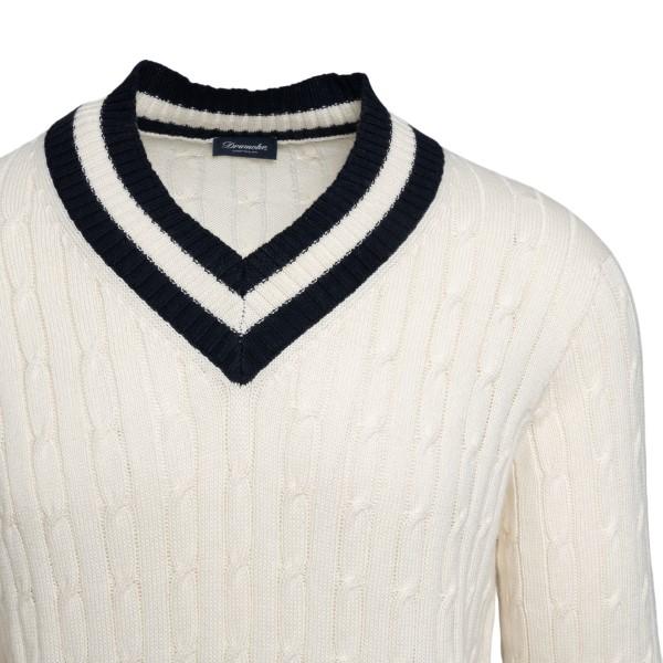 Cream sweater with blue details                                                                                                                        DRUMOHR