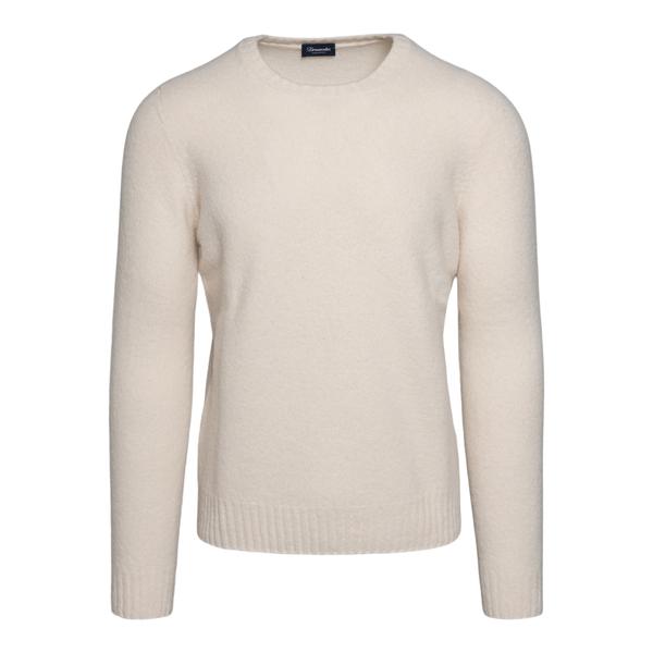 Maglione bianco girocollo                                                                                                                             Drumohr D8W103G retro