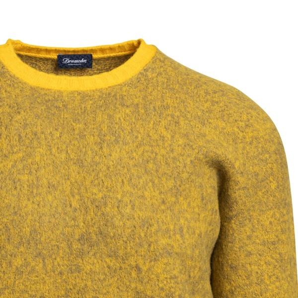 Pullover giallo con trama melange                                                                                                                      DRUMOHR                                            DRUMOHR