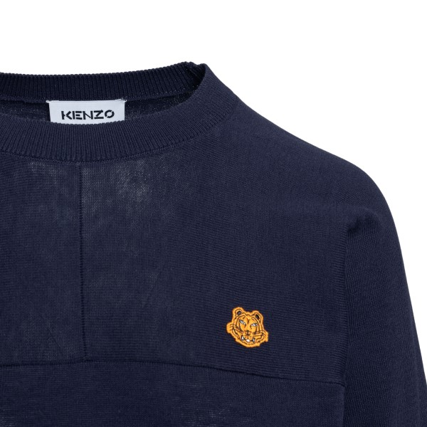 Blue top with tiger patch                                                                                                                              KENZO