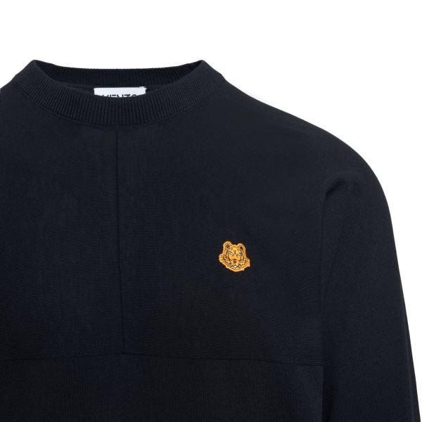 Black sweater with tiger patch                                                                                                                         KENZO