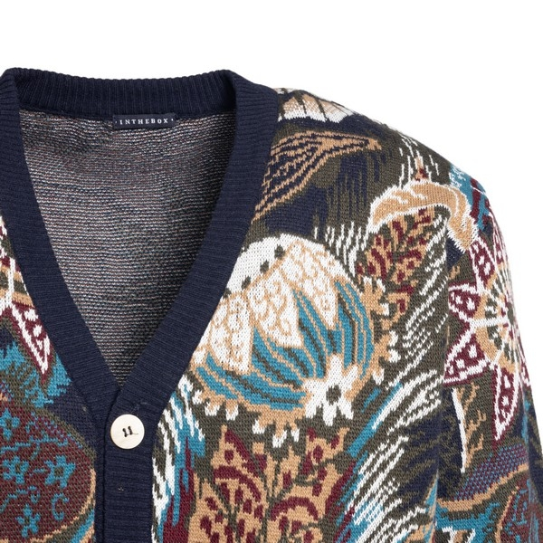 Multicolored cardigan with floral print                                                                                                                IN THE BOX