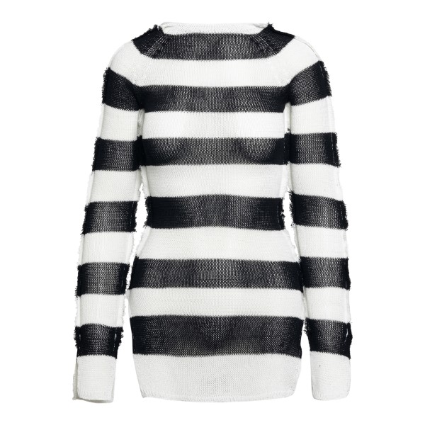Long black and white striped sweater                                                                                                                  Marni GCMD0253Q0 back