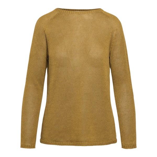 Maglione minimal in color marrone chiaro                                                                                                              Max Mara S GIOLINO retro