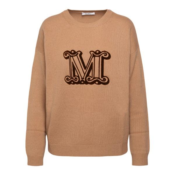 Beige sweater with logo                                                                                                                               Max Mara GIOSTRA back