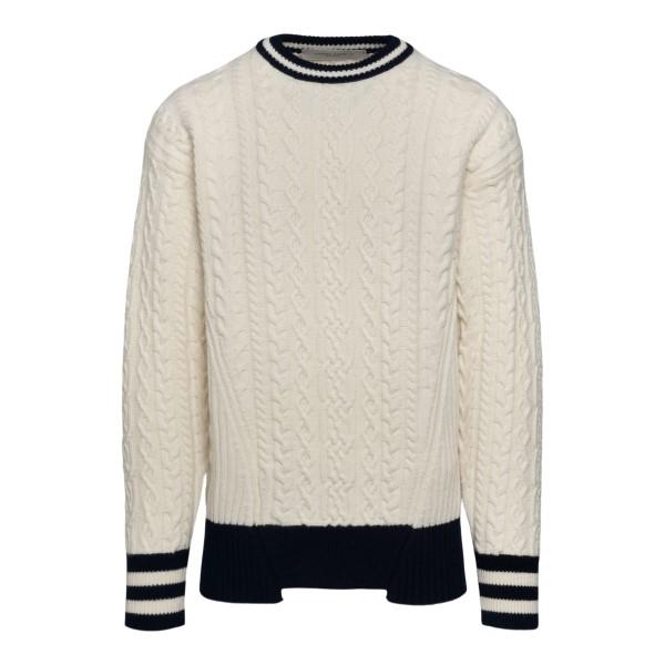 Maglione bianco con dettagli blu                                                                                                                      Golden Goose GMP00980 retro