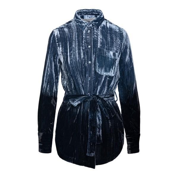Blue shirt with belt                                                                                                                                  Golden Goose GWP00499 back